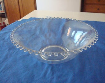 "Vintage Elegant Imperial Candlewick 10"" by 3 1/2"" Serving Bowl"