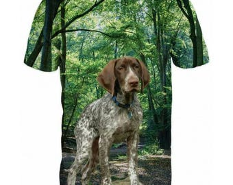 New ultramodern 3D  High Quality  Print Hunting Dog short Sleeve real Camouflage T-shirt