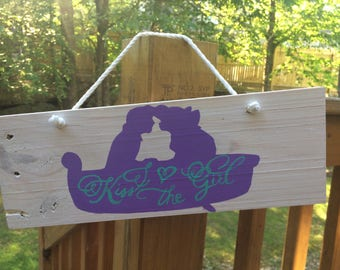 Kiss the Girl Pallet sign