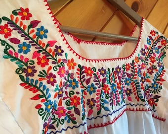 Oaxaca hand made embroidered blouse