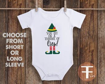 You Sit On A Throne Of Lies Onesie, Funny Onesie, Funny Onesies For Baby, Baby Onesie, Onesie for Boys, Onesie for Girls, Baby Shower Gift