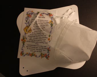 Baby Hankie Hat with window box and Poem