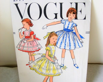 Vintage vogue pattern,  Dress pattern, Childs pattern, Classic dress, flair dress pattern, Dress sewing pattern, Party dress, Classic design