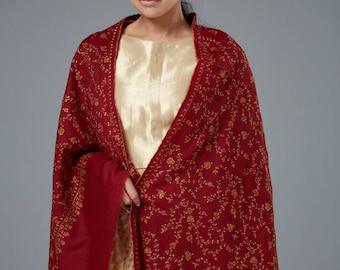 Pashmina Shawl (Hand thread embroidery), Cashmere Pashmina shawls, Cashnere scarfs