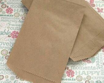 5x7 1/2 Kraft Brown Paper Bags. Gift Bags. Storage Bags. Plain brown paper bag. Candy bag. 25,50,100
