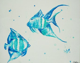 Handcrafted painting - Two little fish