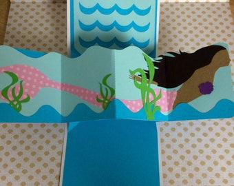 Mocha Mermaid Pop Up Card