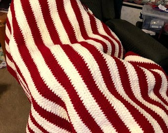 Candy Stripe Afghan