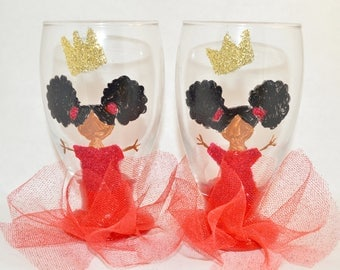 Hand Painted Child's Glass