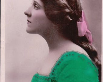 A Philco Series Photo of Edna May - Hand Tinted - 3102E