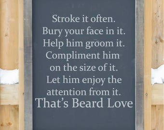 Beard Love svg file
