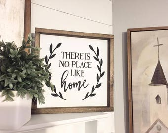 There's no place like home, Wood Sign, Farmhouse Style Sign, Family sign, Home Sign, Home Decor,Rustic Decor,Farmhouse Sign,Christinas gifts