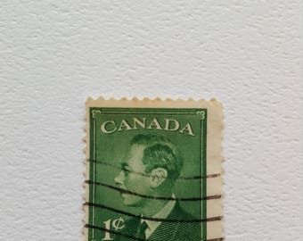 CANADA Vintage Postage Post Stamp, Antique Postal Stamps, Collectible stamps, Collection philately 2.1cm x 2.5cm