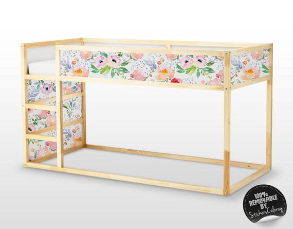 Decals for kura bed ikea dreamy floral sticker set pack of - Stickers bambini ikea ...
