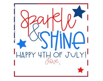 Instant Download 4th of July Tags – 4th of July Gift Tags – Printable July 4th Tags – Independence Day Tags – Printable 4th of July Tags