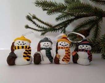 Little Hogwarts House Snowmen Tree Ornaments