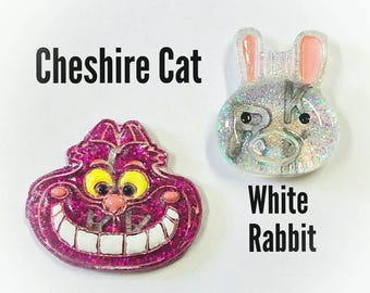 Cheshire Cat & White Rabbit X-Ray Markers, Letters and Numbers available, Customizable!