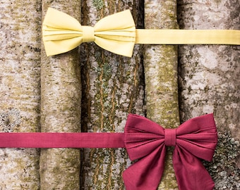 Bow ties Couples gift Couples accessories Accesories Bowties Wedding bow tie Red bow tie Burgundy bow tie Bowties Engagement bow tie