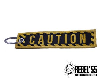 """Cool & Unique Key Tag """"CAUTION"""" - Awesome and Unique Motorcycle Gift!"""