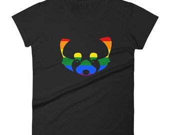 Pride Red Panda Women's short sleeve t-shirt lgbt lgbtqipa lgbtq mogai pride flag