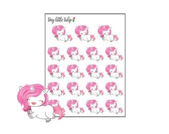 Planner Stickers Unicorn Happy