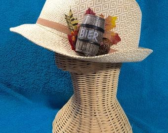 German Octoberfest Oktoberfest Miniature Beer Bier Barrel Hat Decoration Ribbon Fob Fedora Autumn Fall Harvest Party
