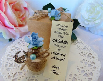 Will you be My Bridesmaid, Bridesmaid Proposal, Message in a Bottle, Maid of Honor Proposal, Ask Bridesmaids, Flower Girl Invitation
