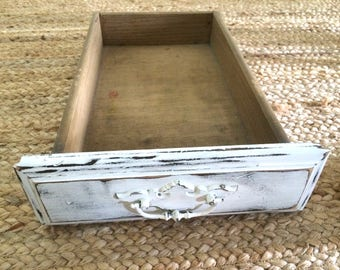 Vintage White Painted Drawer