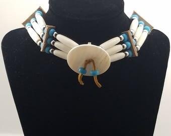 Native American Bone Choker Necklace