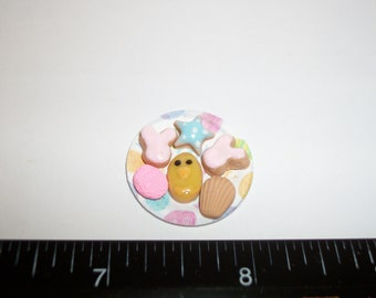 Dollhouse Miniature Handcrafted Easter Cookies ~ Dessert Doll Food 923