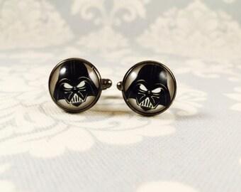 Star Wars Darth Vader Cufflinks // Nerdy Weddind Cuff Links