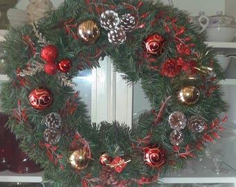 "Christmas Wreath with balls est 22"""