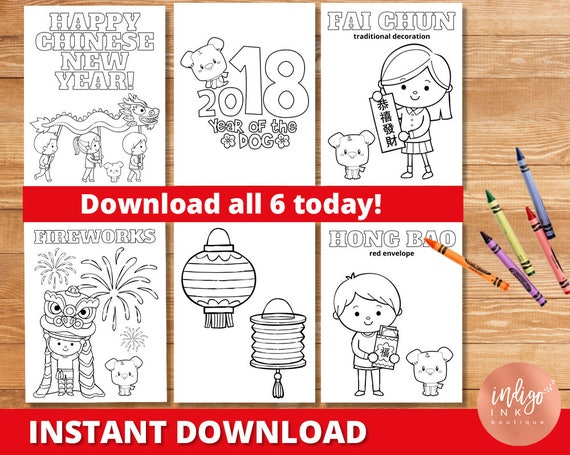 Chinese New Year Coloring Pages | Chinese New Years Printable | Year ...