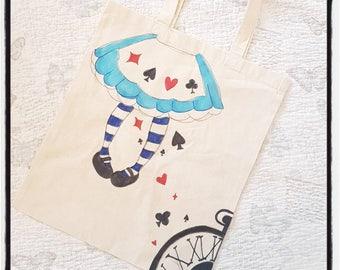 Alice in Wonderland Cotton Tote Bag