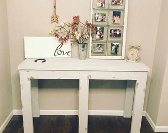Shabby Chic Distressed Entryway Table (Local pickup Only)
