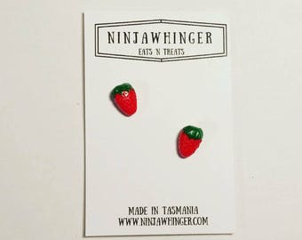 BERRY NICE Strawberry Stud Earrings