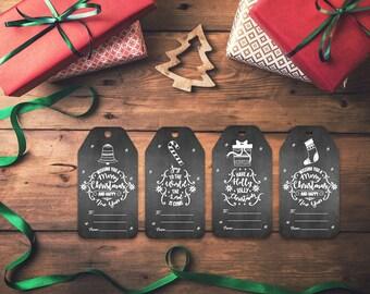 Printable Christmas gift tags,  gift tags, holiday tags, holiday gift tags, christmas gift tag, christmas tag,  xmas tags christmas labels