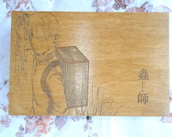 Tea box or collection box with your design, Personalized Tea Box, Wood Tea Box, Custom Tea storage chest 6, Engraved storage box