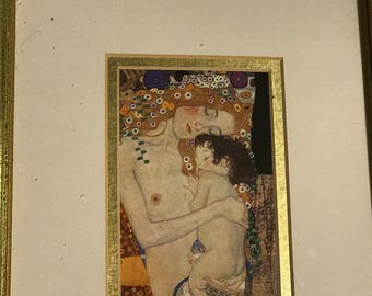 Austrian Artist Gustav Klimt - Mother and Child Print - Ready to Hang!