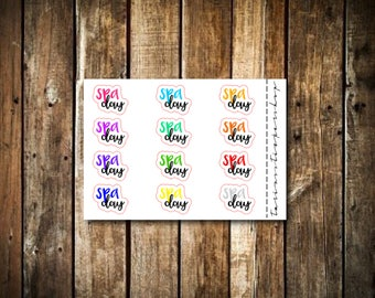 Spa Day - Script Words - Fits Any Planner