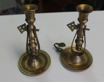 Brass Ship's Candle Holder, Brass Gimbal Candle Holder, Swinging Candle Holder