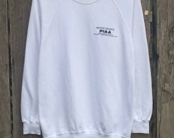 Rare!!! PIAA motor sports racing team spell out sweatshirt jumper