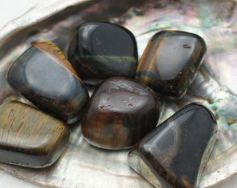 Blue Tiger's Eye Tumbled Stones - Hawk's Eye - for Integrity of Communication and Personal Empowerment - Wire Wrap Supply, Blue Crystal