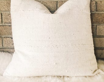Authentic Mudcloth Pillow, Natural