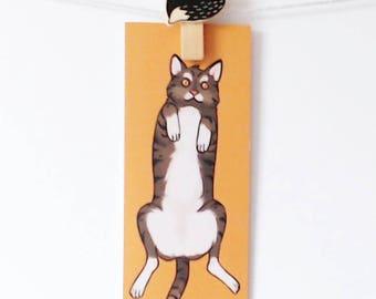 Bellyrub Bookmark | Cat
