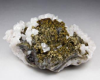Fluorit, Pyrit, Calzit - Arlos Bergbaurevier Villabona Spanien  - neuer Fund