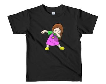 Girl Dabbing kids t-shirt - dabbing t-shirt - dabbing - dabbing shirt - dabbing t shirt - t-shirt - funny t shirt - funny t-shirt - funny t-