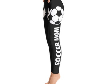 Soccer Mom Leggings -Toddler Leggings - Printed Leggings - Cut out Leggings - Yoga Leggings - Gift for mom