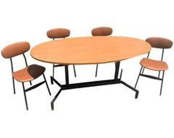 Teak Style Danish Table and Chairs, 20th Century