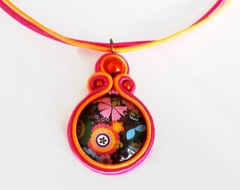 Unique soutache necklace